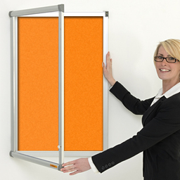 Metropolitan lockable indoor notice board