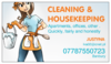 cleanning and housekeeping