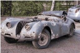 1950 Jaguar XK120, Sold £27,500