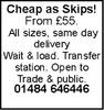 Cheap as Skips