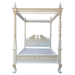 SOLID MAHOGANY FOUR POSTER BED