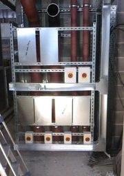 Mounting frame awaiting inverters for air handling units at a well known pharmaceutical factory