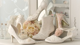 Shoes embellished by Anara Designs