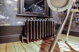 King 570mm cast iron radiator in Full Polish
