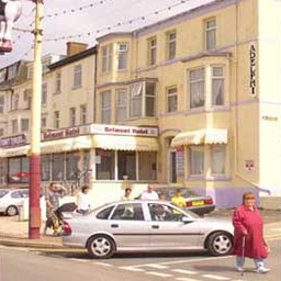 The hotel is located on Blackpool's seafront with great beach views.
