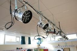Lighting rig with bespoke metalwork