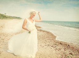 Beach wedding photographs