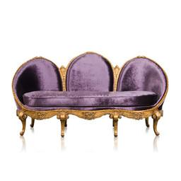 FRENCH ROCOCO THREE SEAT SOFA