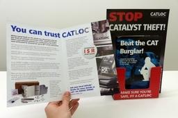 Catloc Leaflet and holder
