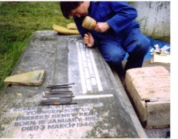 Hand cutting raised lead
