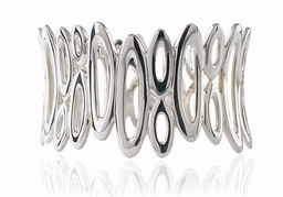 Silver orbit bangle