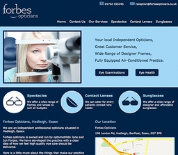 Forbes Opticians Website