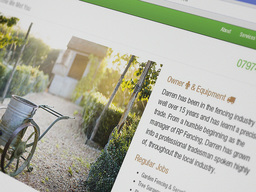 DK Fencing (website design and hosting)