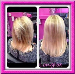 beatiful blonde  extensions