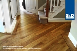 Hardwood floors that would add class to any domestic interior.