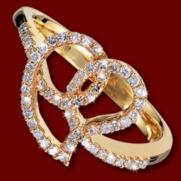 Unique Gold Diamond Ring