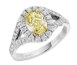 Yellow Diamond Harmony Ring