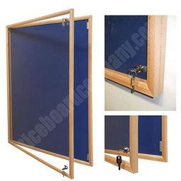 Wooden framed notice boards