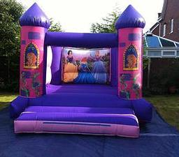 DISNEY'S PRINCESS BOUNCY CASTLE 12 X 14 FT This Bouncy Castle is suitable for Children up to 15 years of age only The Castle can hold 6 to 8 users at a time This Castle does not have a rain cover The required space for this Bouncy Castle is 15 X 17 X 13FT