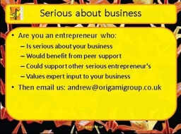 If you are serious about business the contact us now