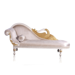 CARVED SWAN NECK ORNATE CHAISE LONGUE