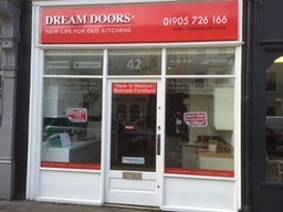 Dream Door Showroom 42 The Tything, Worcester with free parking right outside our showroom!
