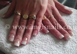 French manicure acrylics