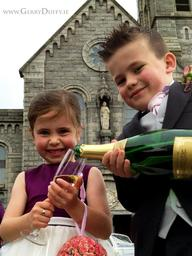 champagne for Everyone (NOT) at a Dundalk wedding