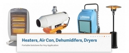 Heaters , Air Conditioning units, Dehumidifers