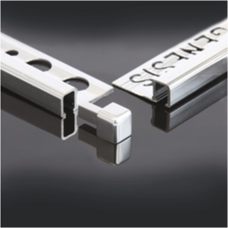 Bright silver square edge tiling trims