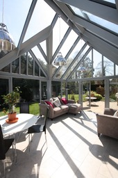 Stunning hardwood and double glazed conservatory