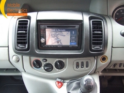 Renault Trafic Fitted With Kenwood Double Din Sat Nav Unit.