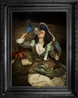 'Air is not enough...' - Ornate framed canvas print