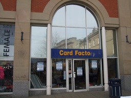 Reflective film installed to card factory windows