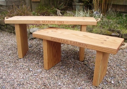 Personalised Oak Benches