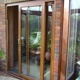 Golden Oak patio doors