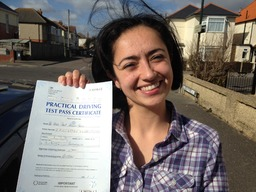 Yaira passes her driving test in Bournemouth