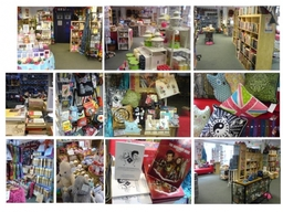Examples of inside Who-ray!  and some of the quirky goods we have for sale.