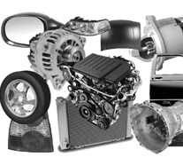 A wide range of vehicle spare parts, including cars, vans, motorcycles, caravans