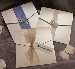 Pocketfolds - available with several options on the ribbon bands and made to suit your own colour scheme.