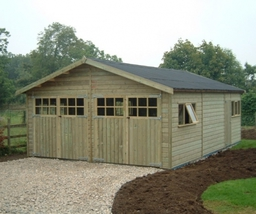 Tanalised Timber Framed Double Garage