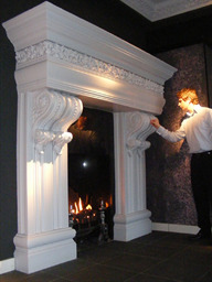 Bespoke plaster fire surround designed and fitted