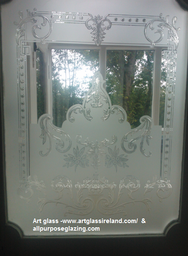 Traditional edwardian Sandblasted and acid etching