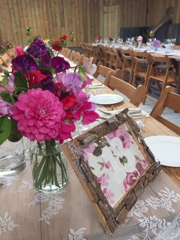Country Farm Barn Themed Wedding Table Setting