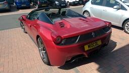 Ferrari True Blood Red Wrap Arlon. Chorley