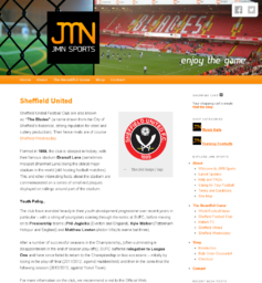 Screen-shot from the Web Site for JMN Sports Ltd.
