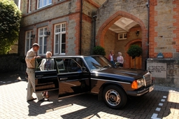 Tregolls Manor Care Home our guests getting ready for a day out in Cornwall