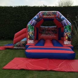 Marvel Bouncy Castle With Slide