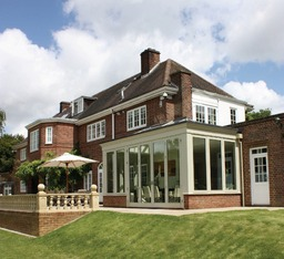 Contemporary Orangery exterior.