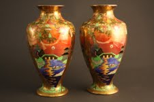 Fairyland lustre vases, Sold £3,600